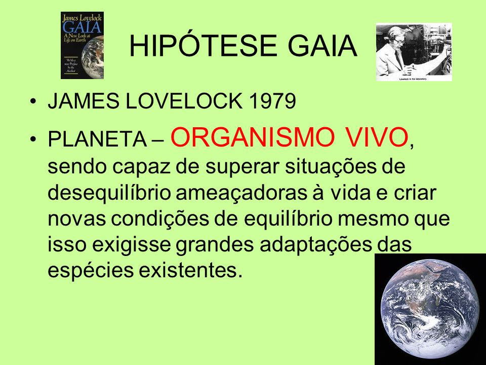 HIPÓTESE GAIA JAMES LOVELOCK 1979