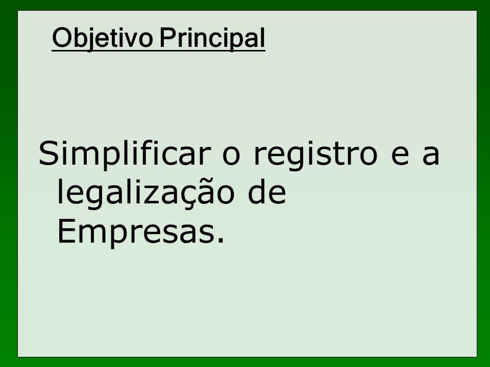Simplificar o registro e a legalização de Empresas.