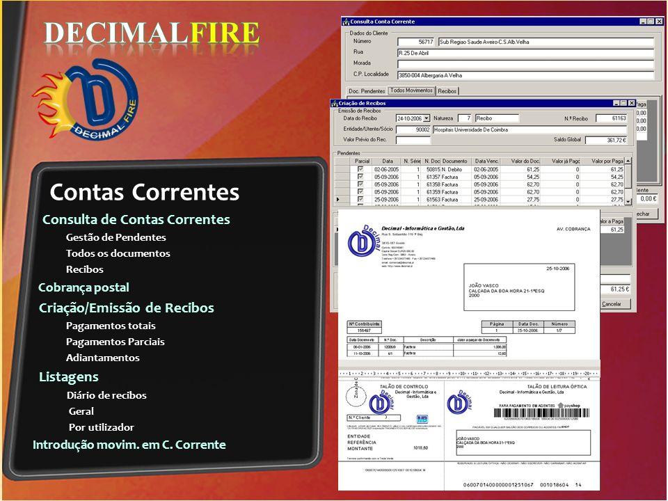 Direcção DECIMALFIRE Contas Correntes Consulta de Contas Correntes