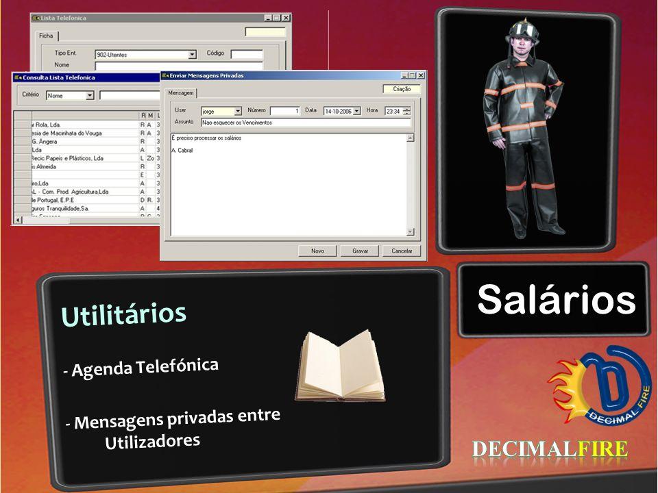 Salários Utilitários DECIMALFIRE - Agenda Telefónica