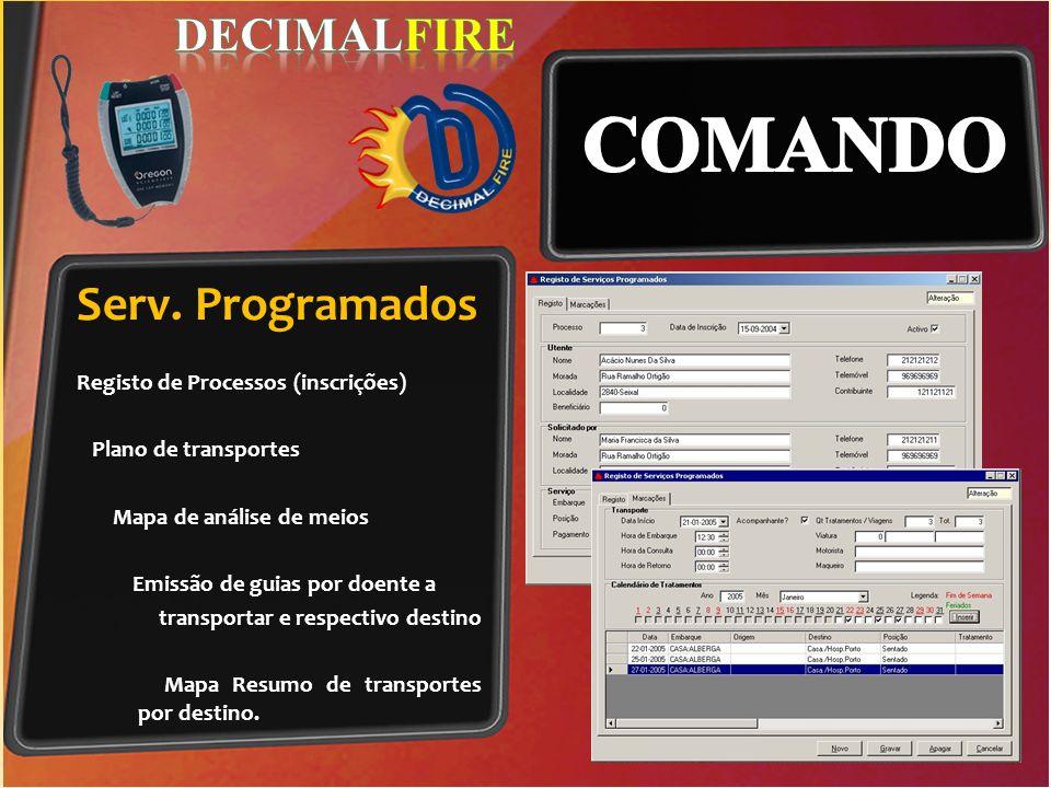 COMANDO Serv. Programados DECIMALFIRE