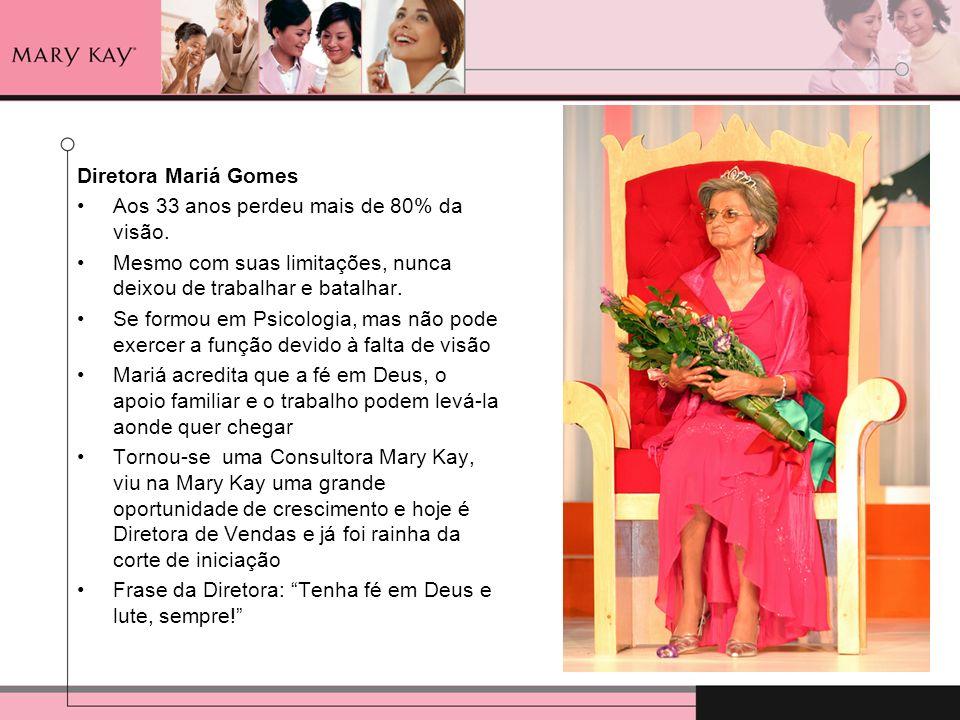 Diretora Mariá GomesAos 33 anos perdeu mais de 80% da visão. Mesmo com suas limitações, nunca deixou de trabalhar e batalhar.