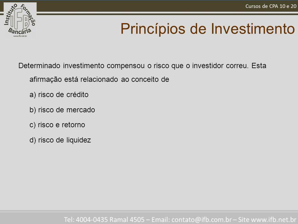 Princípios de Investimento