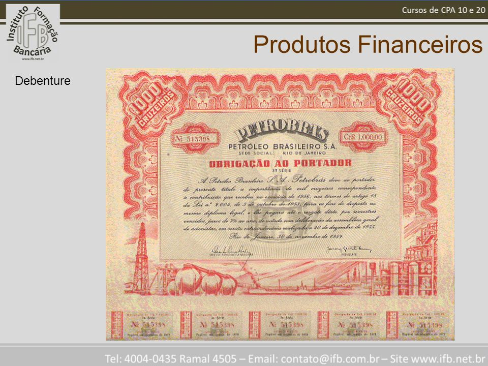 Produtos Financeiros Debenture