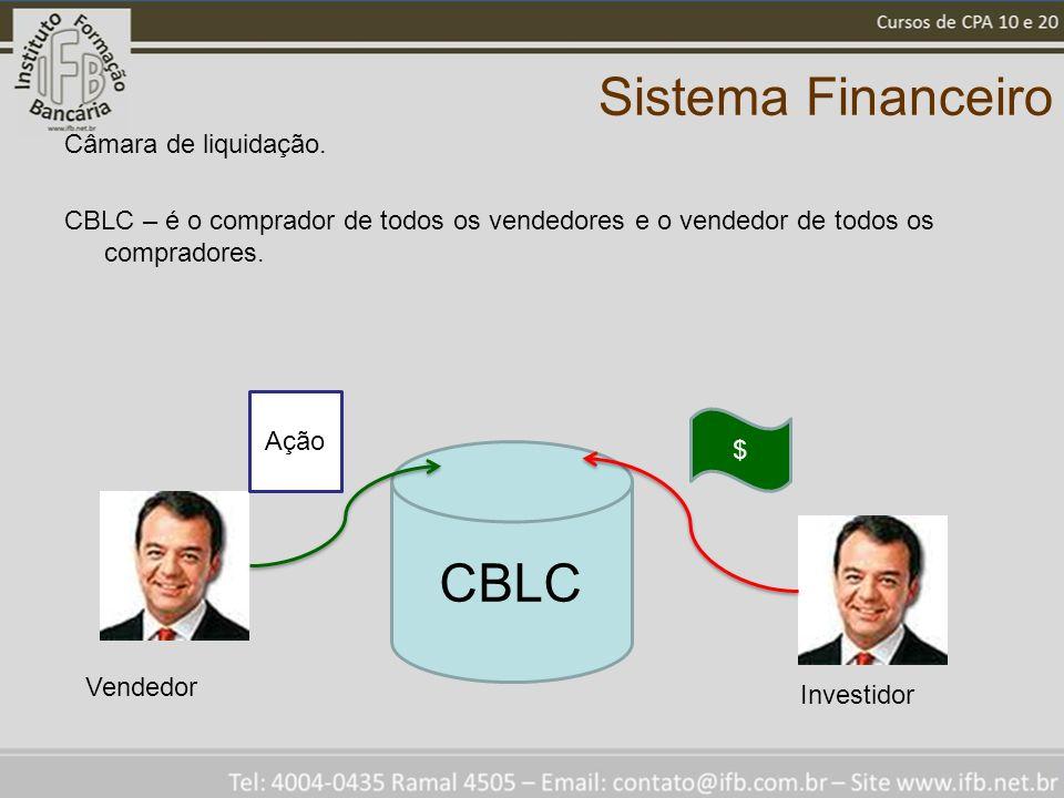 Sistema Financeiro CBLC Câmara de liquidação.