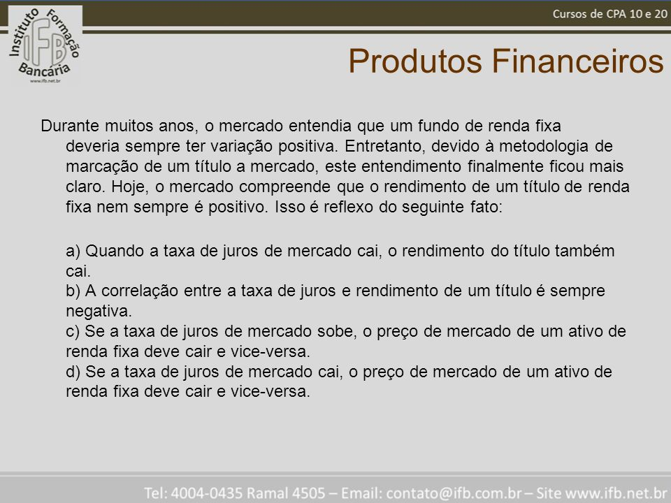 Produtos Financeiros