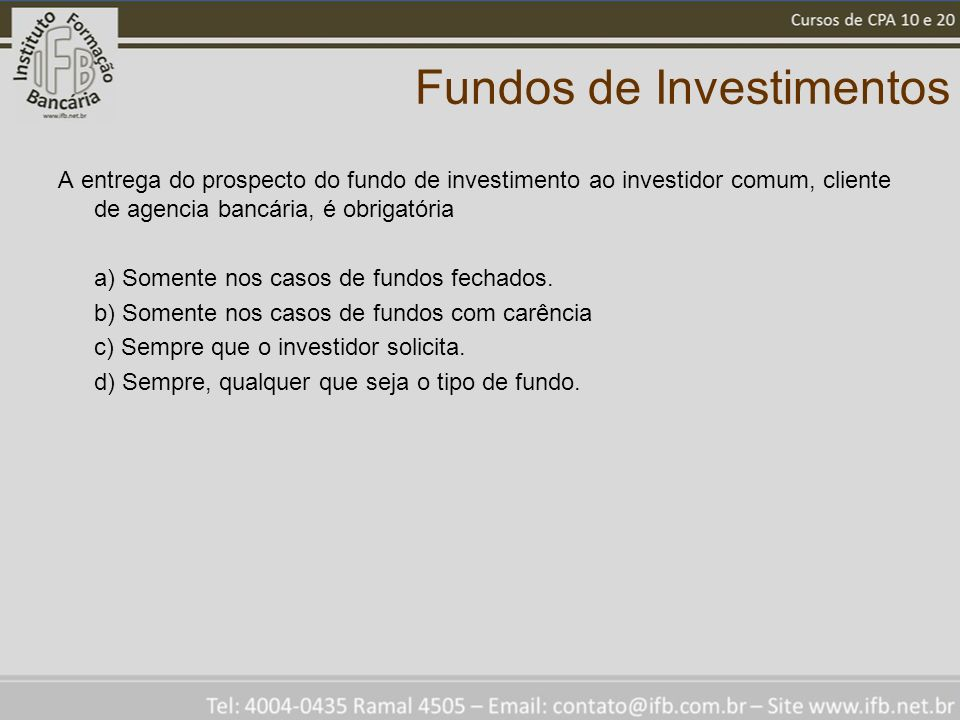 Fundos de Investimentos