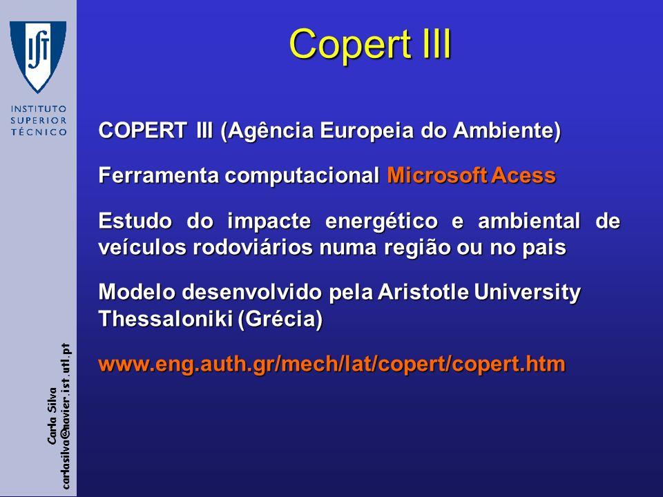 Copert III COPERT III (Agência Europeia do Ambiente)