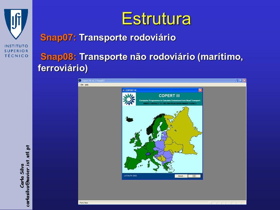Estrutura Snap07: Transporte rodoviário