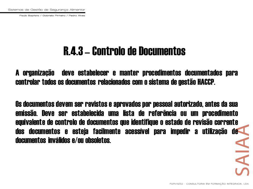 R.4.3 – Controlo de Documentos