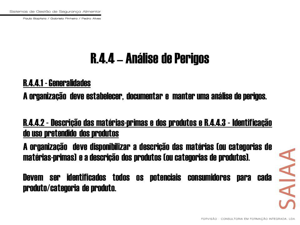 R.4.4 – Análise de Perigos R.4.4.1 - Generalidades