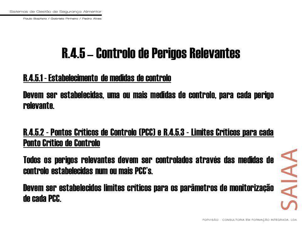 R.4.5 – Controlo de Perigos Relevantes