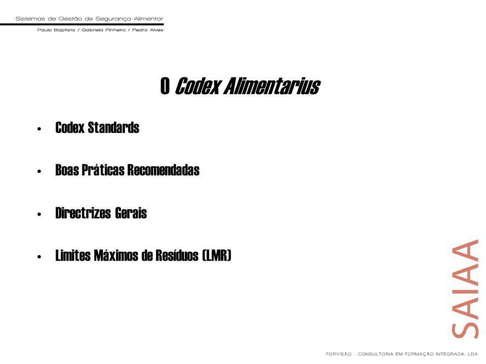 O Codex Alimentarius Codex Standards Boas Práticas Recomendadas