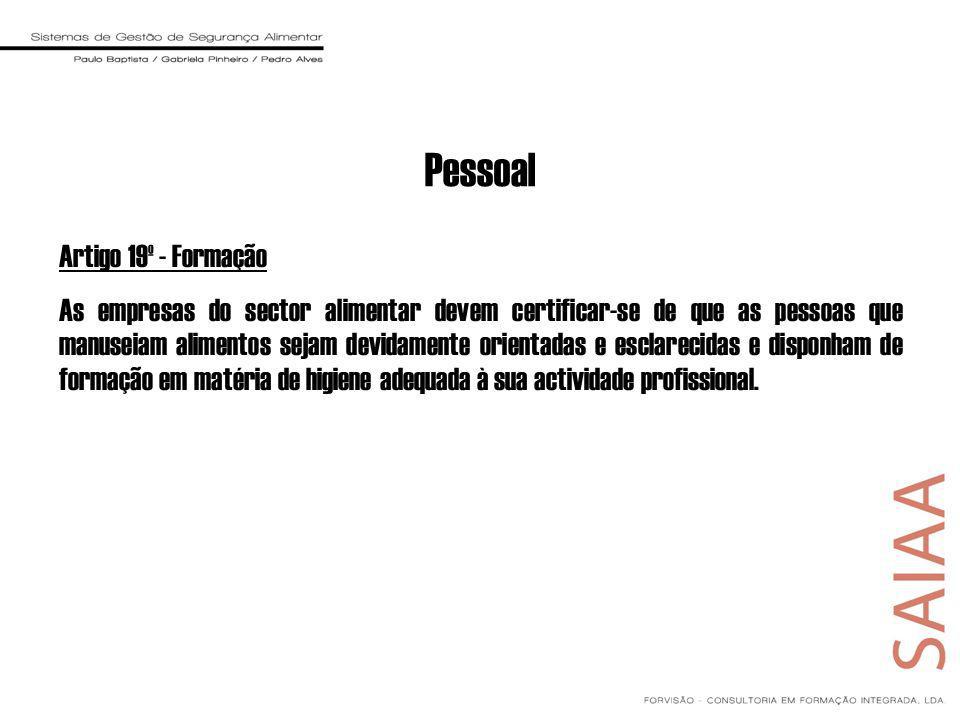 Pessoal Artigo 19º - Formação