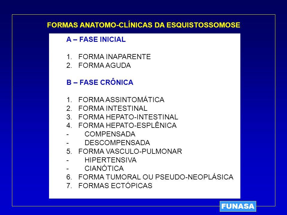 FORMAS ANATOMO-CLÍNICAS DA ESQUISTOSSOMOSE