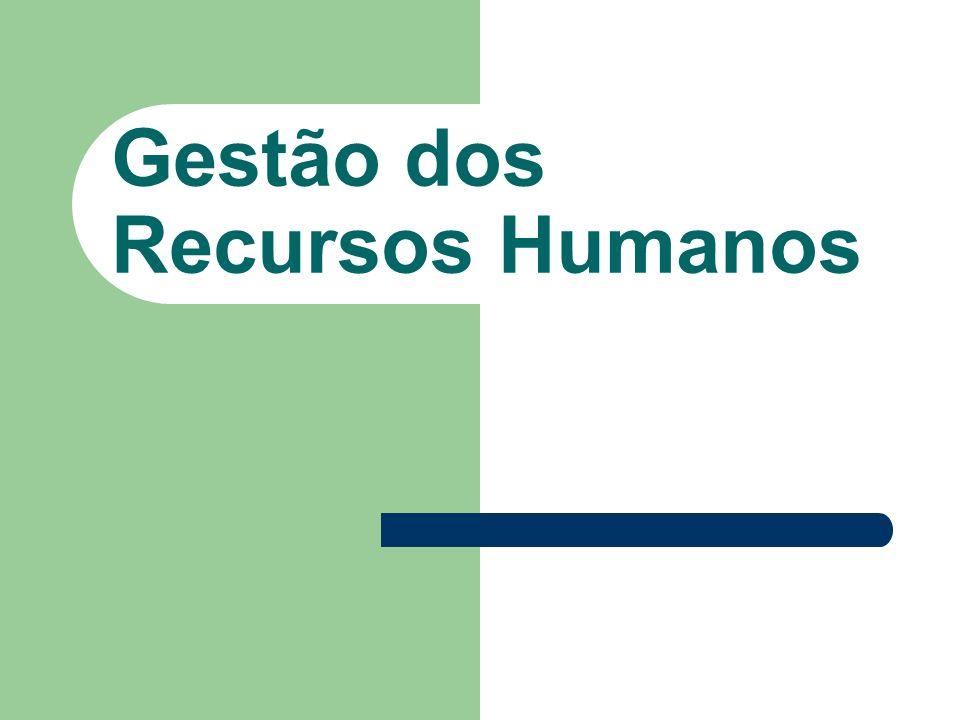 Gestão dos Recursos Humanos