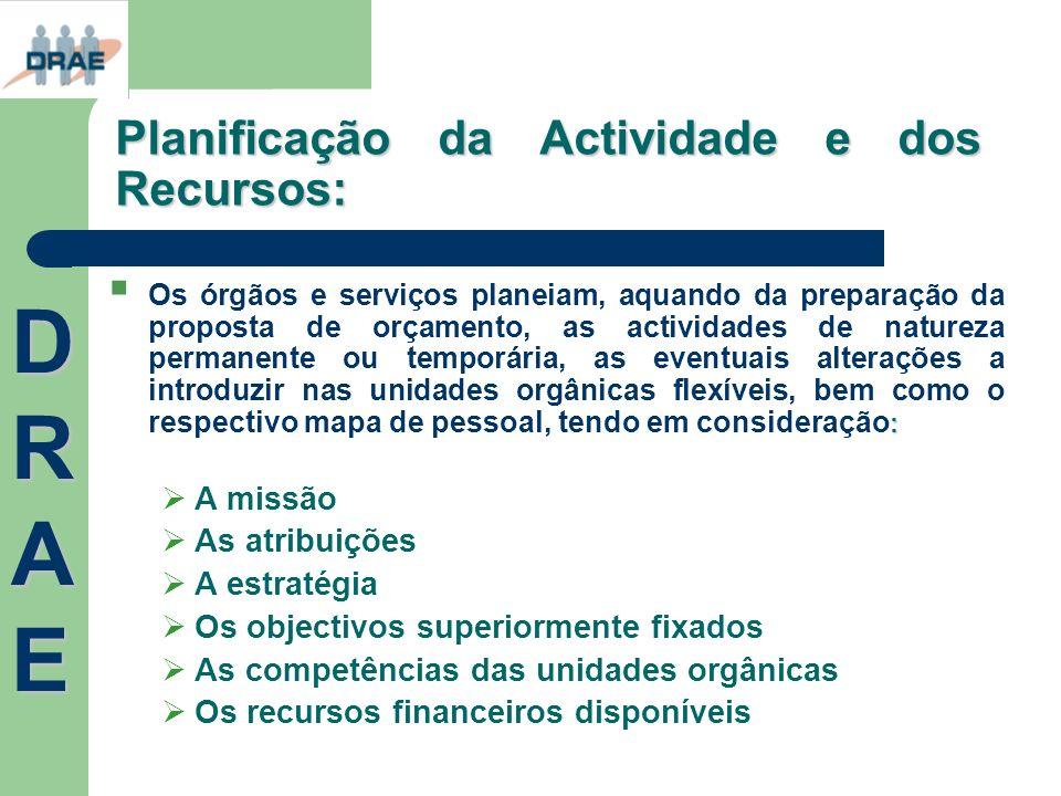 Planificação da Actividade e dos Recursos: