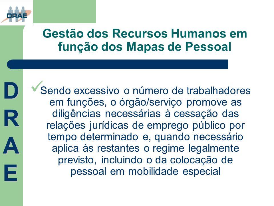 Gestão dos Recursos Humanos em função dos Mapas de Pessoal