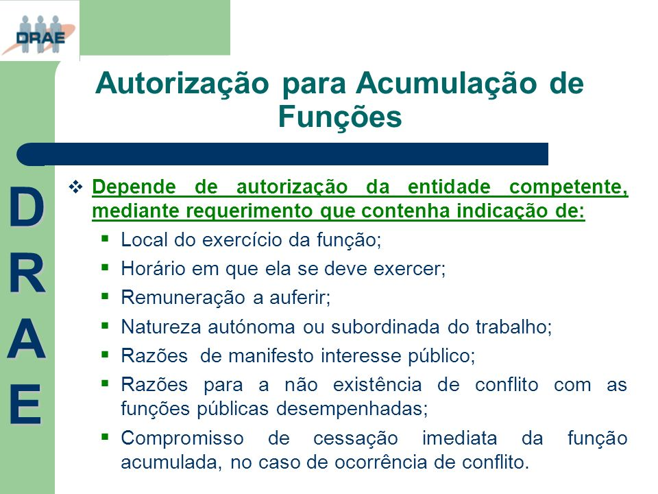 Autorização para Acumulação de Funções