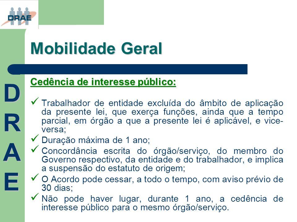 DRAE Mobilidade Geral Cedência de interesse público:
