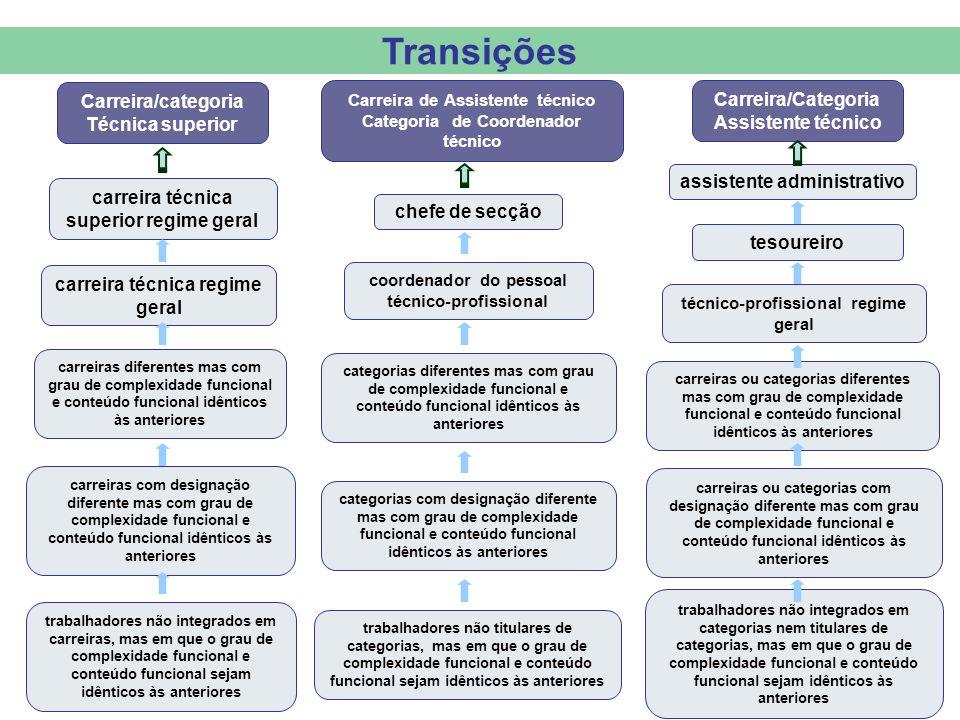 Transições Carreira/categoria Técnica superior