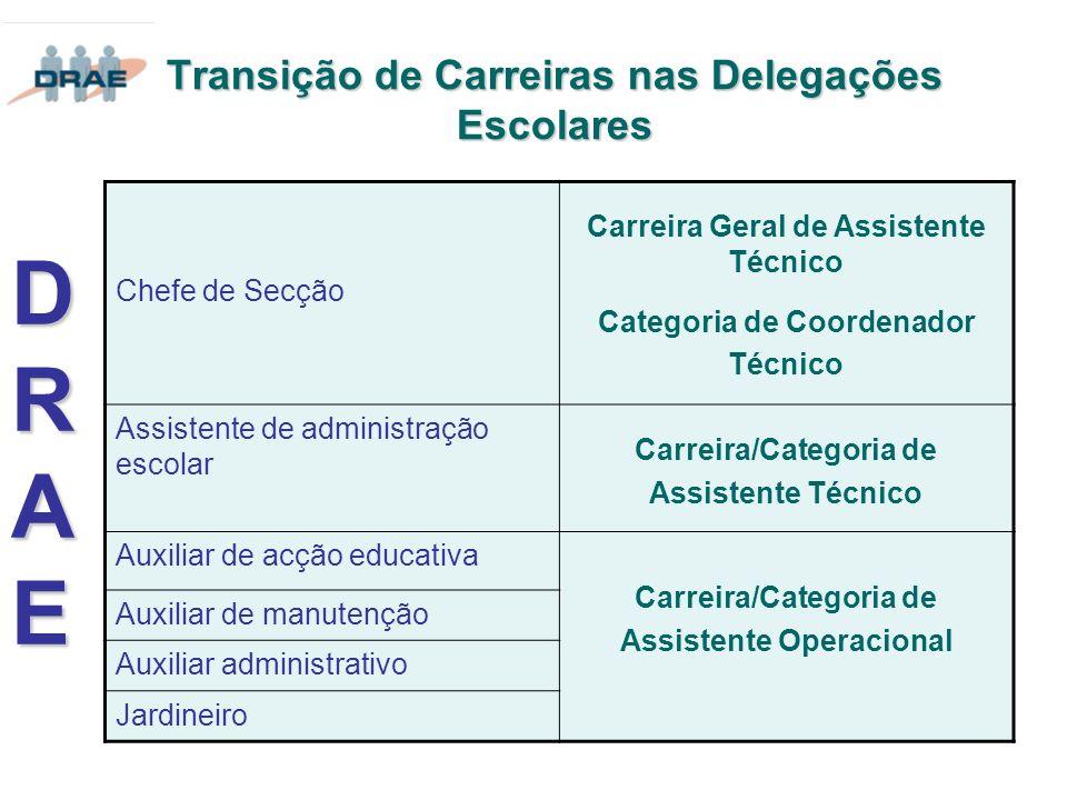 Transição de Carreiras nas Delegações Escolares