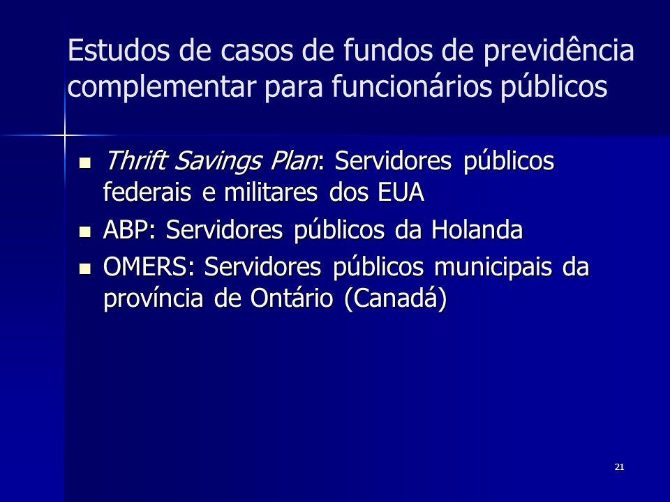 Estudos de casos de fundos de previdência complementar para funcionários públicos