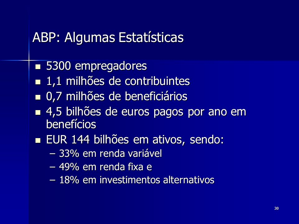 ABP: Algumas Estatísticas