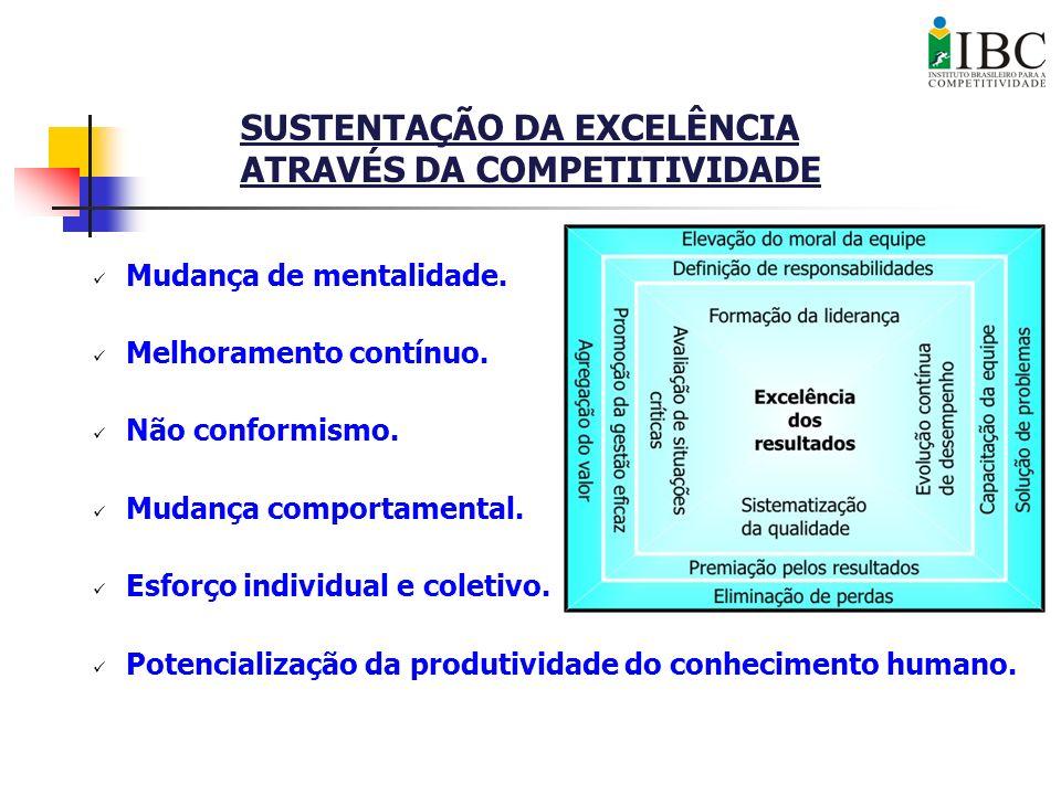 SUSTENTAÇÃO DA EXCELÊNCIA ATRAVÉS DA COMPETITIVIDADE
