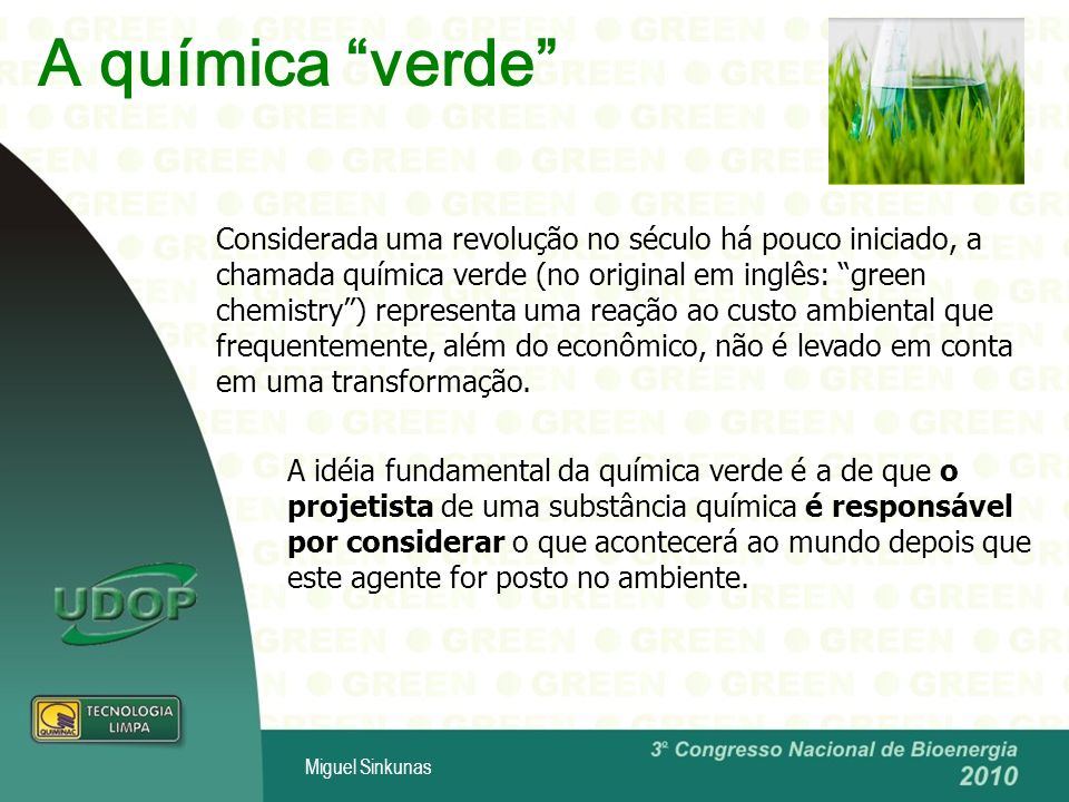 A química verde