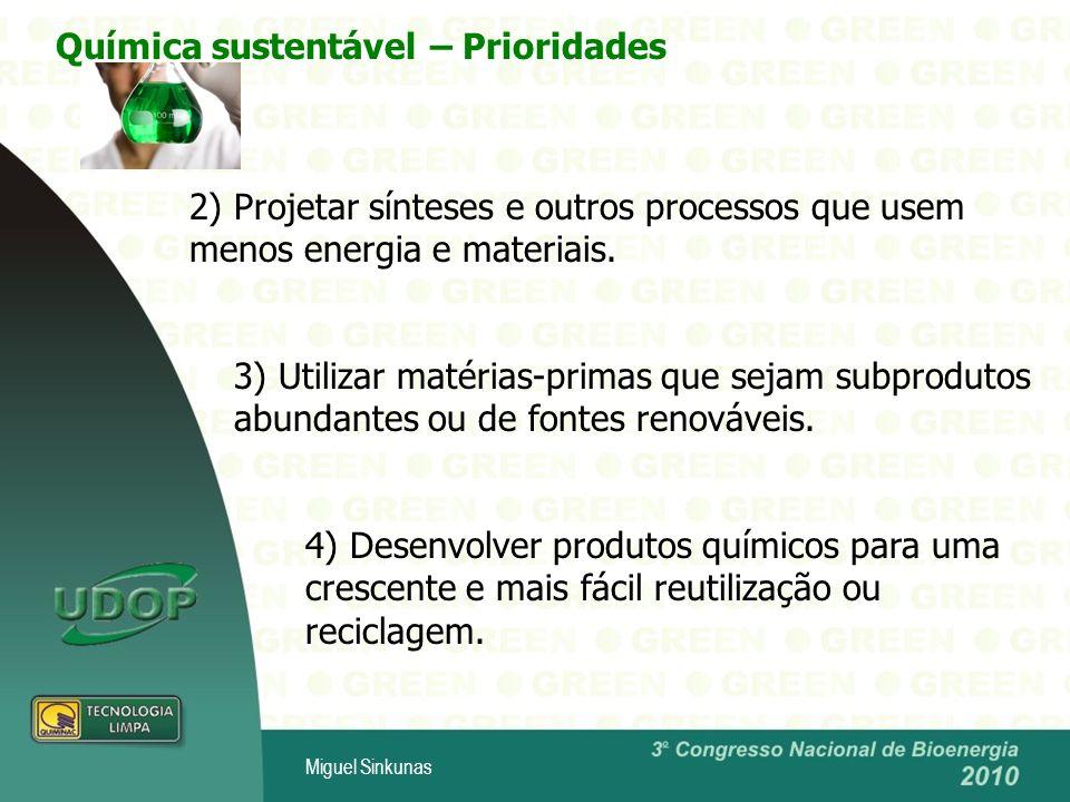 Química sustentável – Prioridades