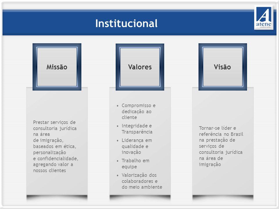 Institucional Missão Valores Visão Compromisso e dedicação ao cliente