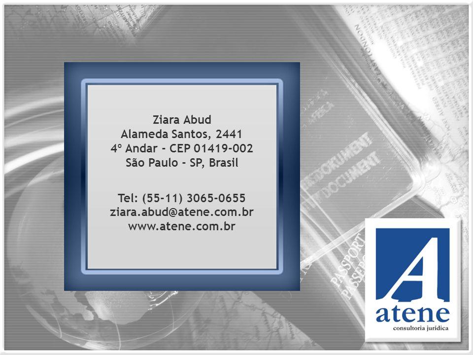 Tel: (55-11) 3065-0655 ziara.abud@atene.com.br www.atene.com.br