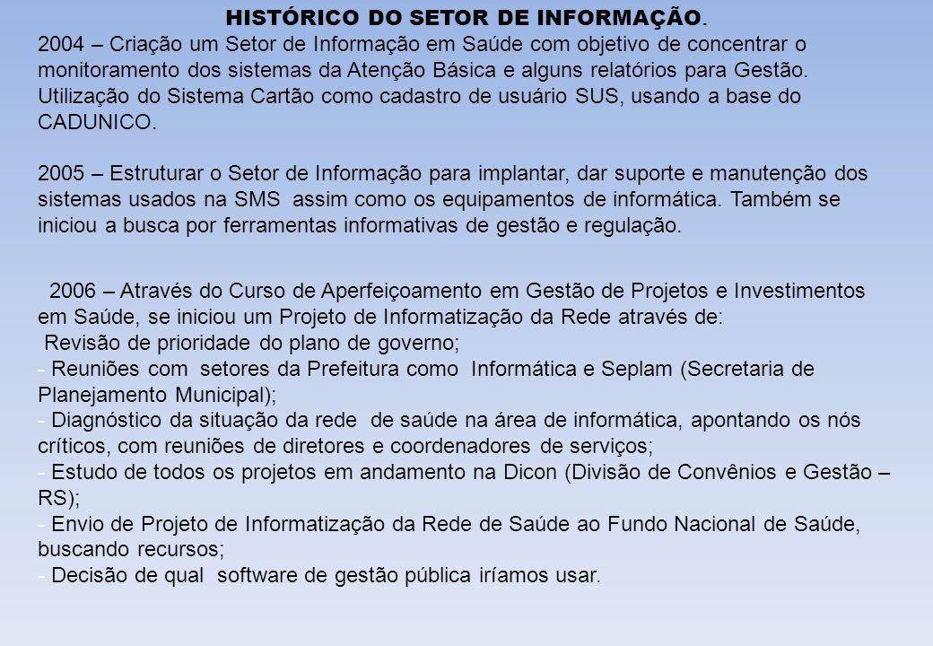 HISTÓRICO DO SETOR DE INFORMAÇÃO.