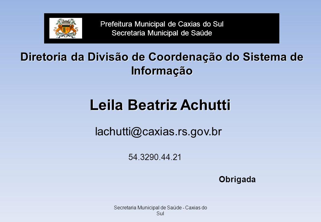 Diretoria da Divisão de Coordenação do Sistema de Informação
