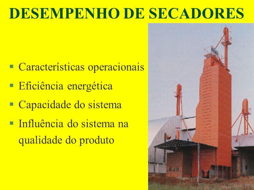 DESEMPENHO DE SECADORES