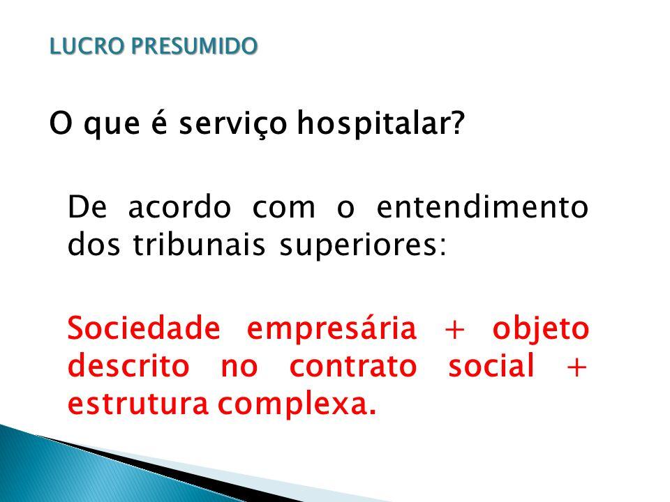 O que é serviço hospitalar