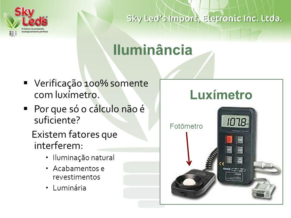 Iluminância Luxímetro Verificação 100% somente com luxímetro.