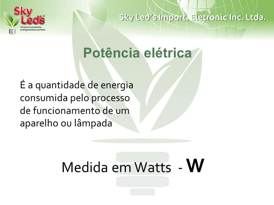 Medida em Watts - W Potência elétrica
