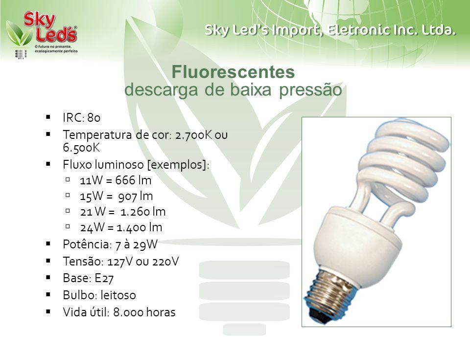 Fluorescentes descarga de baixa pressão