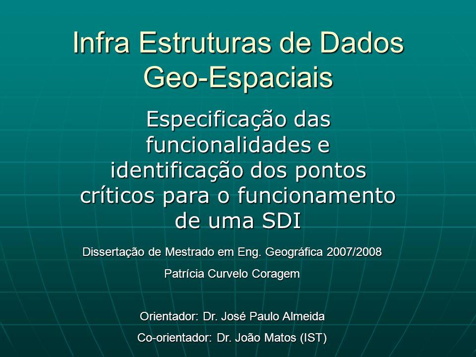 Infra Estruturas de Dados Geo-Espaciais