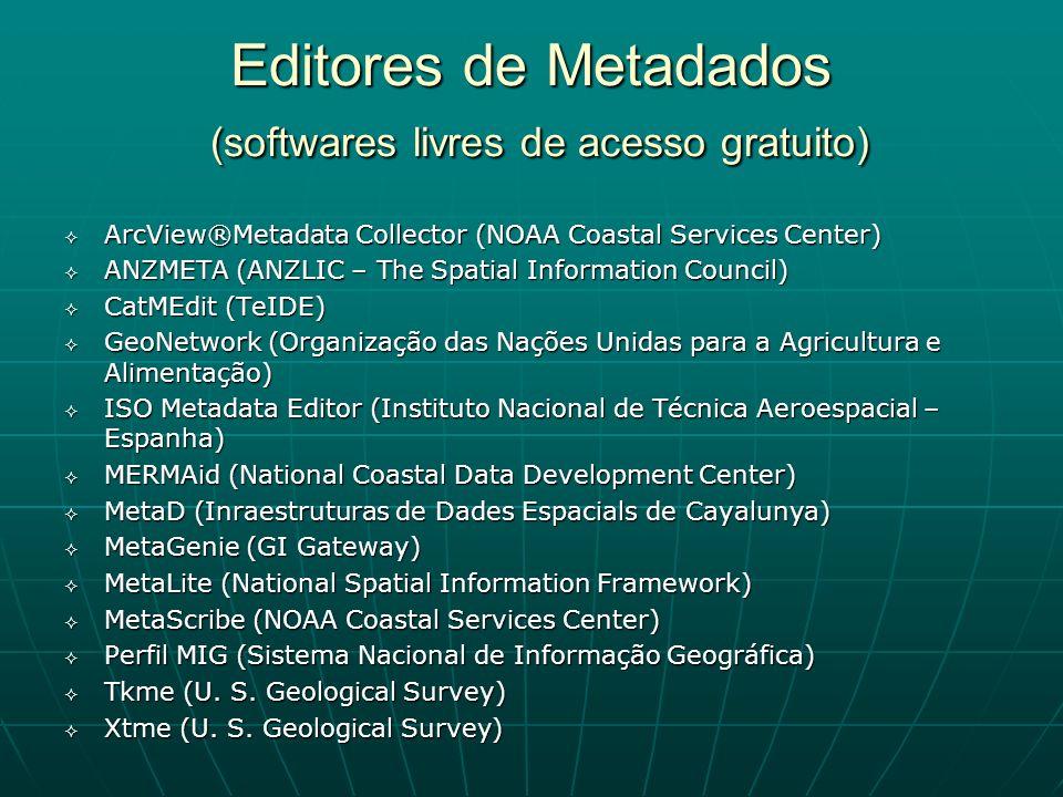 Editores de Metadados (softwares livres de acesso gratuito)