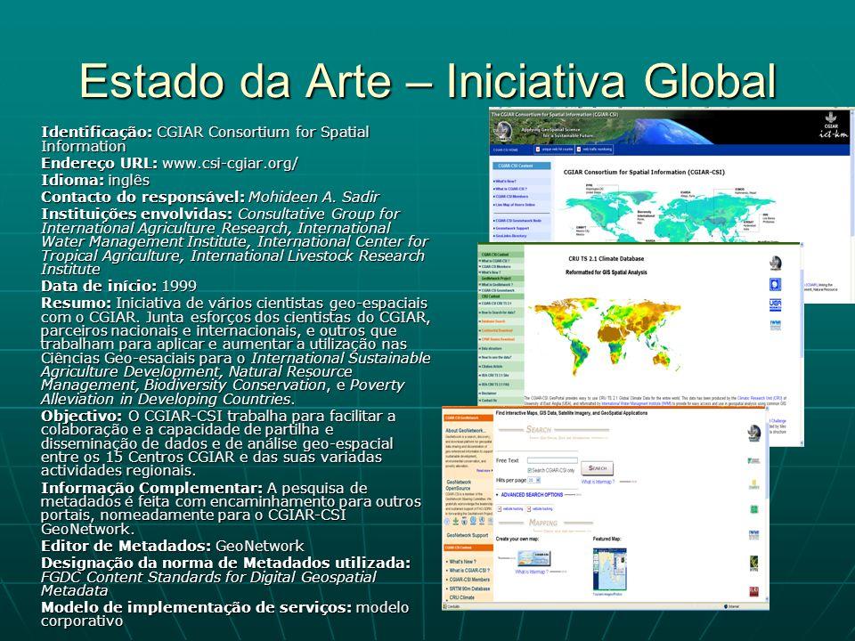 Estado da Arte – Iniciativa Global