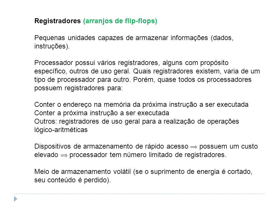 Registradores (arranjos de flip-flops)