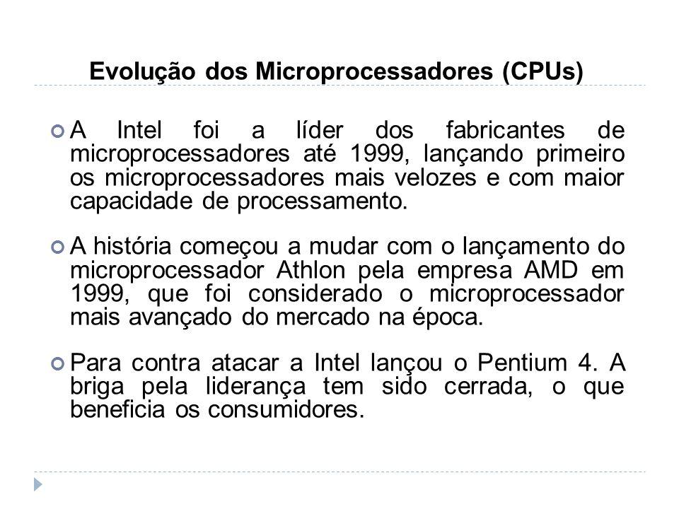 Evolução dos Microprocessadores (CPUs)