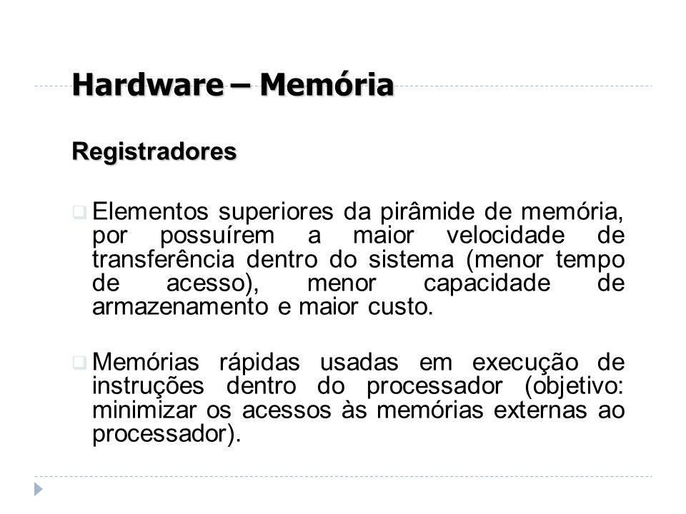 Hardware – Memória Registradores