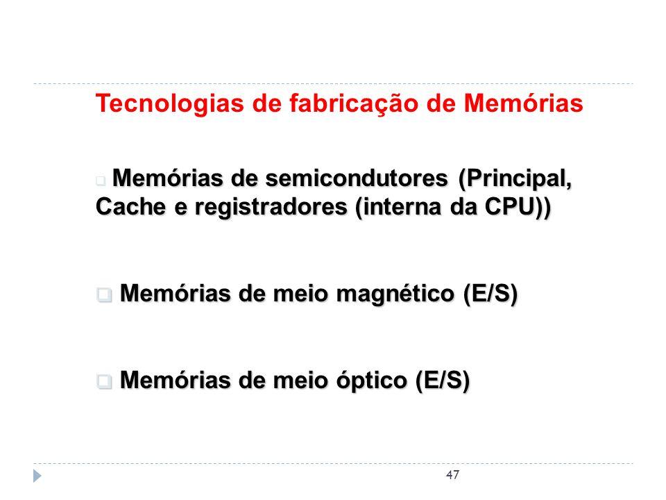 Tecnologias de fabricação de Memórias
