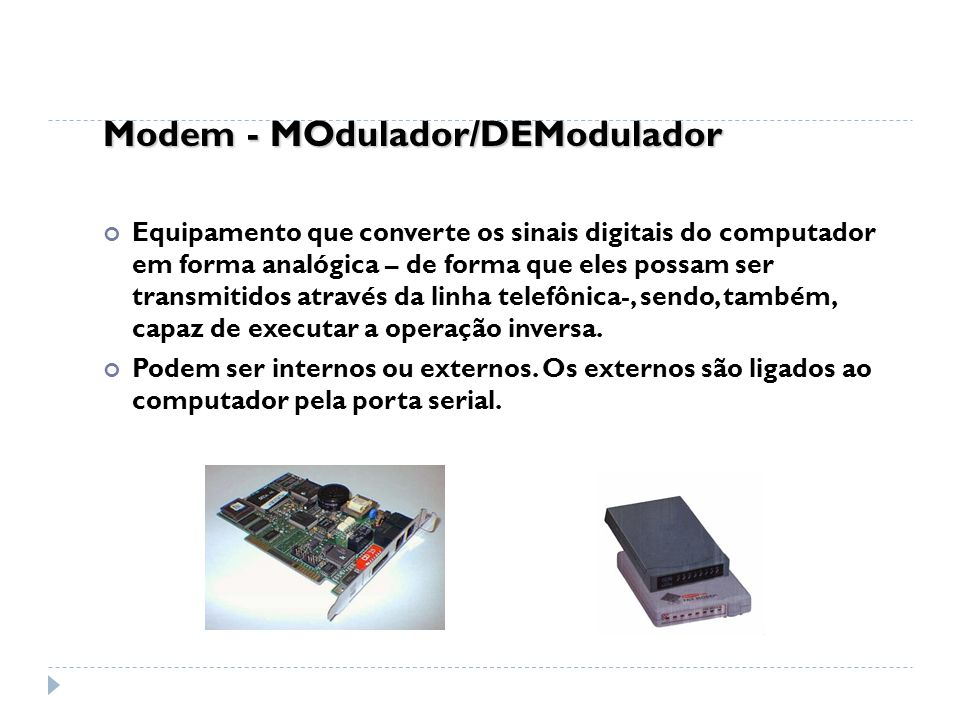 Modem - MOdulador/DEModulador