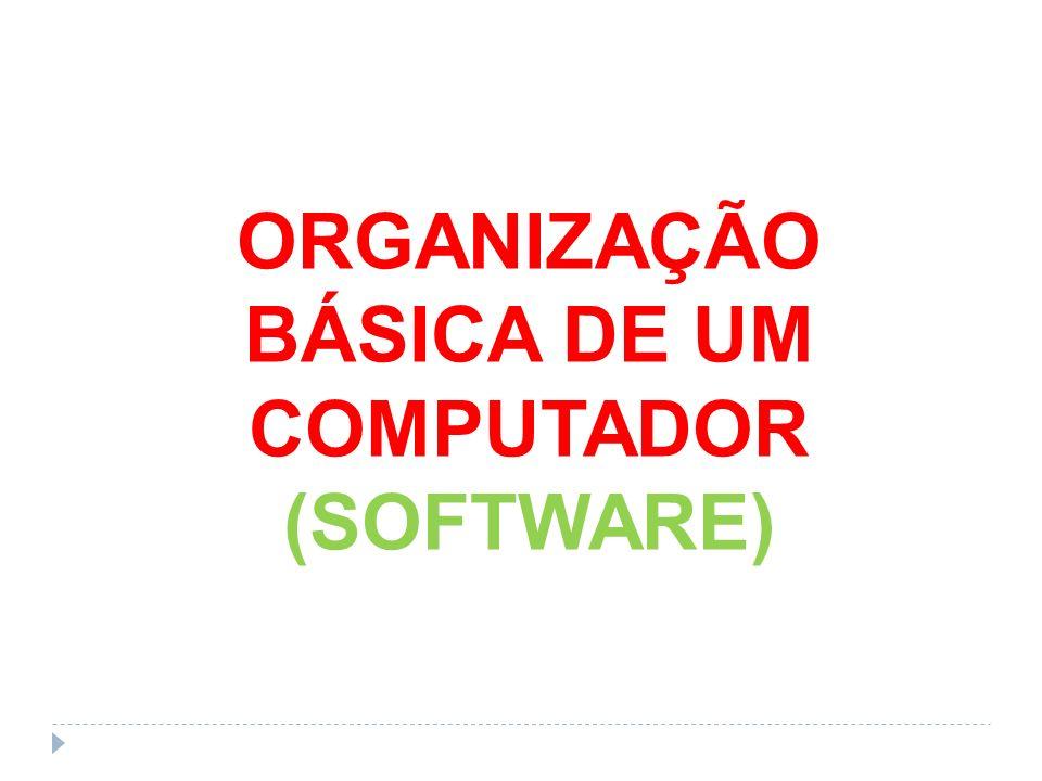 ORGANIZAÇÃO BÁSICA DE UM COMPUTADOR