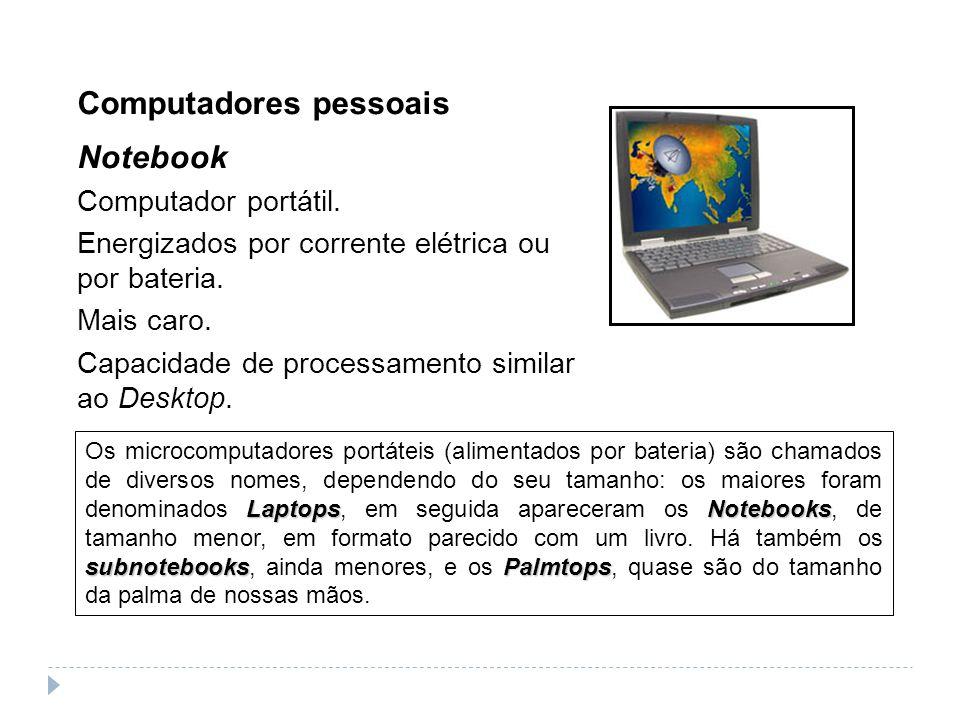 Computadores pessoais Notebook